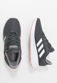 adidas Performance - DURAMO 9 - Neutral running shoes - grey six/footwear white/pink spice - 1
