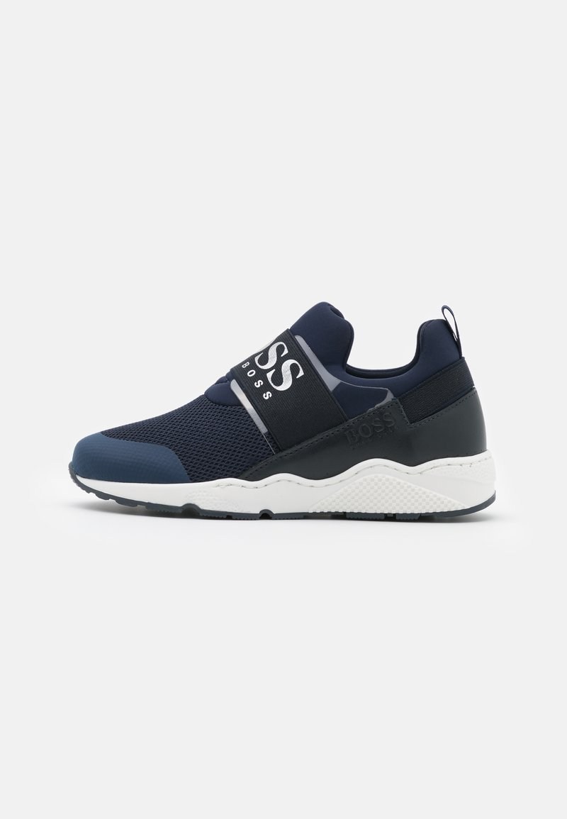 BOSS Kidswear - TRAINERS - Zapatillas - navy