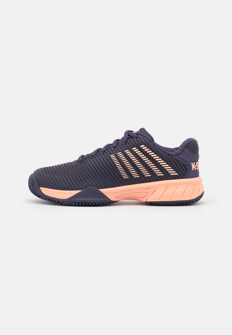 K-SWISS - HYPERCOURT EXPRESS 2 HB UNISEX - Multicourt tennis shoes - graystone/peach nectar