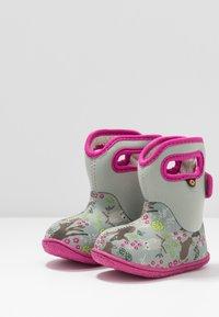 Bogs - BABY WOODLAND FRIENDS - Zimní obuv - light gray/multicolor - 3