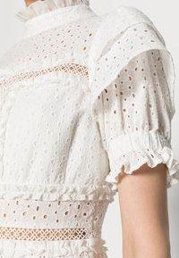 By Malina - IRO MINI LACE DRESS - Blousejurk - white - 4