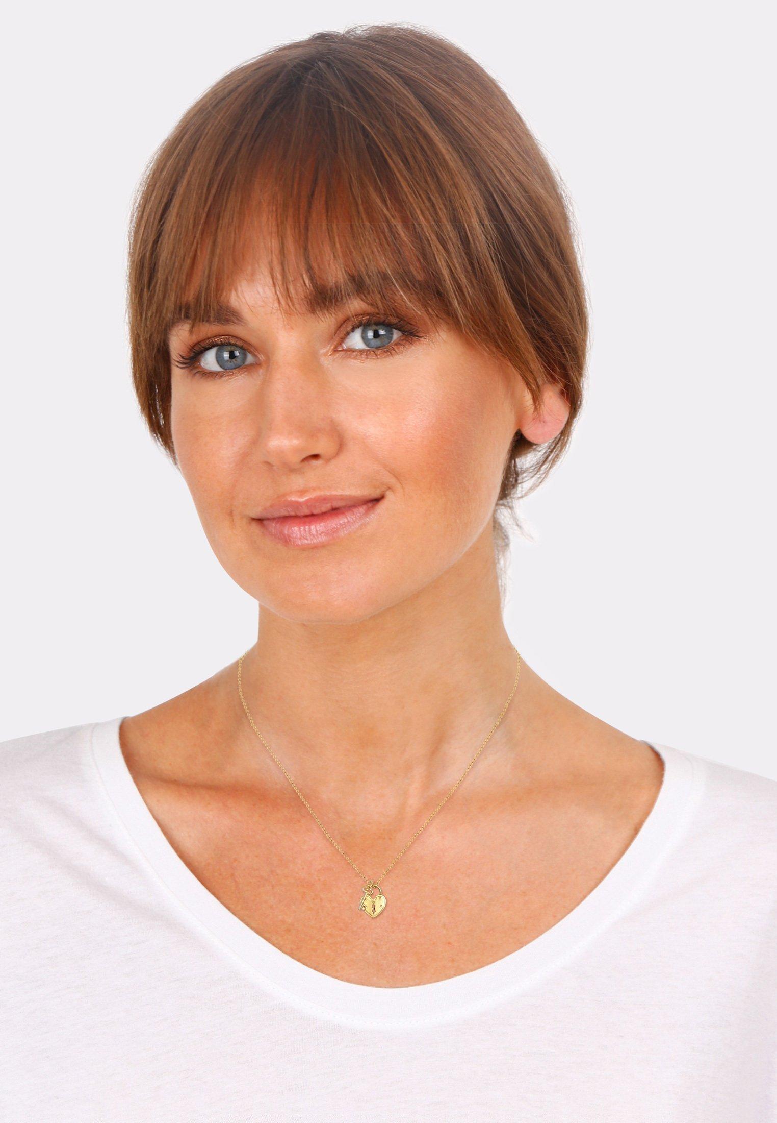 Damen KEY LOCK HEART - Halskette