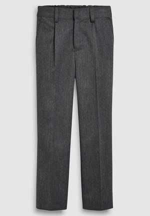 BLACK PLEAT FRONT SLIM FIT TROUSERS (3-16YRS) - Kalhoty - grey