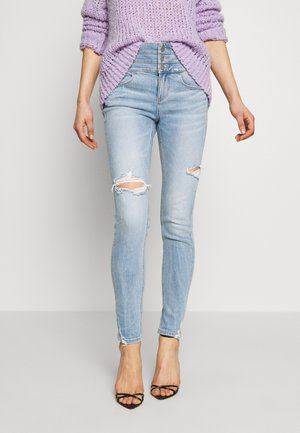 ATTACK CROPPED - Jeans Skinny Fit - light blue
