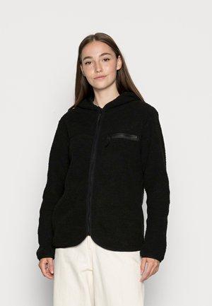 ONLFREJA CONTRAST ZIP JACKET - Fleece jacket - black