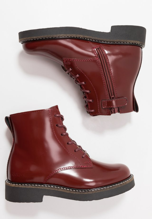 OXNEW - Lace-up ankle boots - rouge fonce