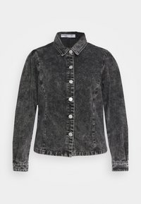 Glamorous Curve - PUFF LONG SLEEVES - Button-down blouse - black - 5