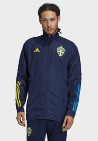 adidas Performance - SWEDEN SVFF PRESENTATION JACKET - National team wear - blue - 0