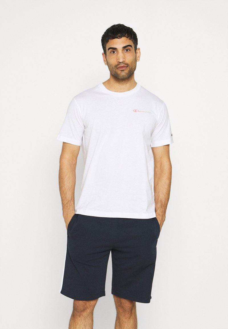 Champion - CREWNECK - Print T-shirt - white
