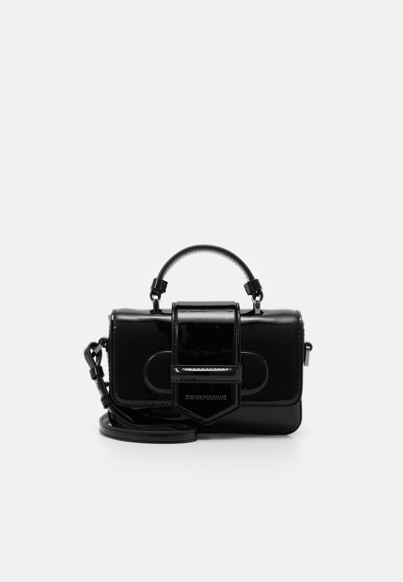 Emporio Armani - FLO PATENT WOMEN'S MINIBAG - Across body bag - nero