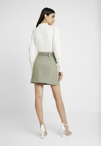 River Island - BETRIE BELTED - A-line skirt - khaki - 2