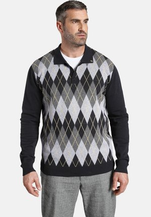 EARL JERRY - Poloshirt - grau gemustert