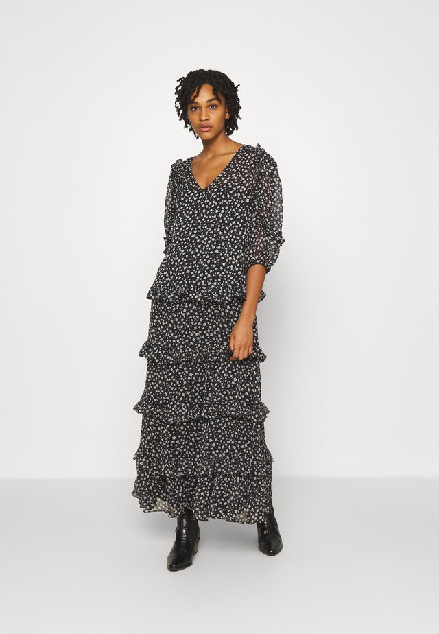 JDYPENELOPE DRESS - Długa sukienka - black/grey