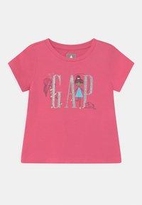 GAP - GIRL LOGO - Triko spotiskem - bold pink - 0