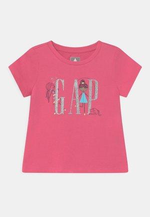 GIRL LOGO - Print T-shirt - bold pink
