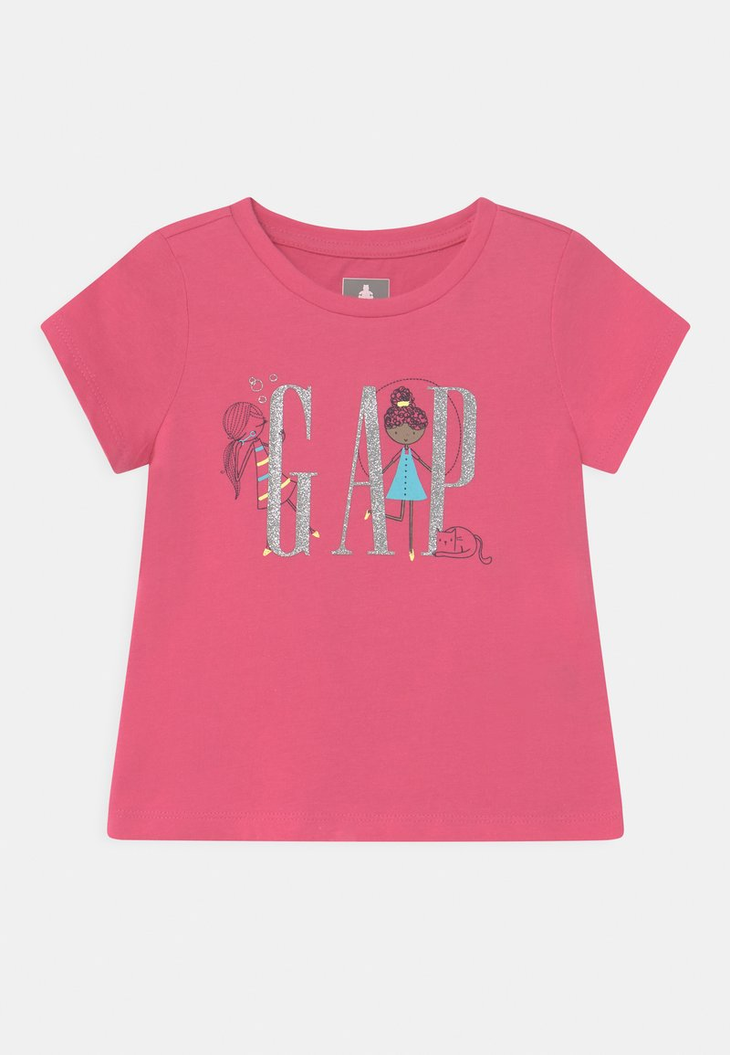 GAP - GIRL LOGO - Triko spotiskem - bold pink