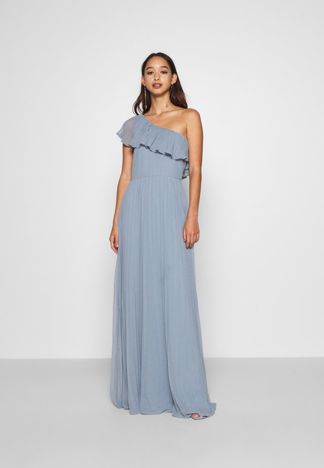 YOUR FINE FRILL GOWN - Gallakjole - dusty blue