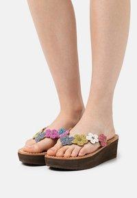 laidbacklondon - CONLEY WEDGE - T-bar sandals - retro - 0