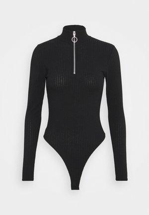 ZIP BODY - Topper langermet - black