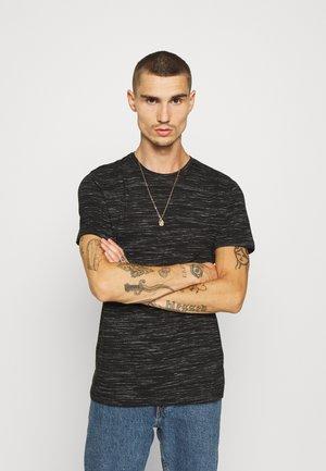 ALBERTO - T-shirt con stampa - jet black/ecru