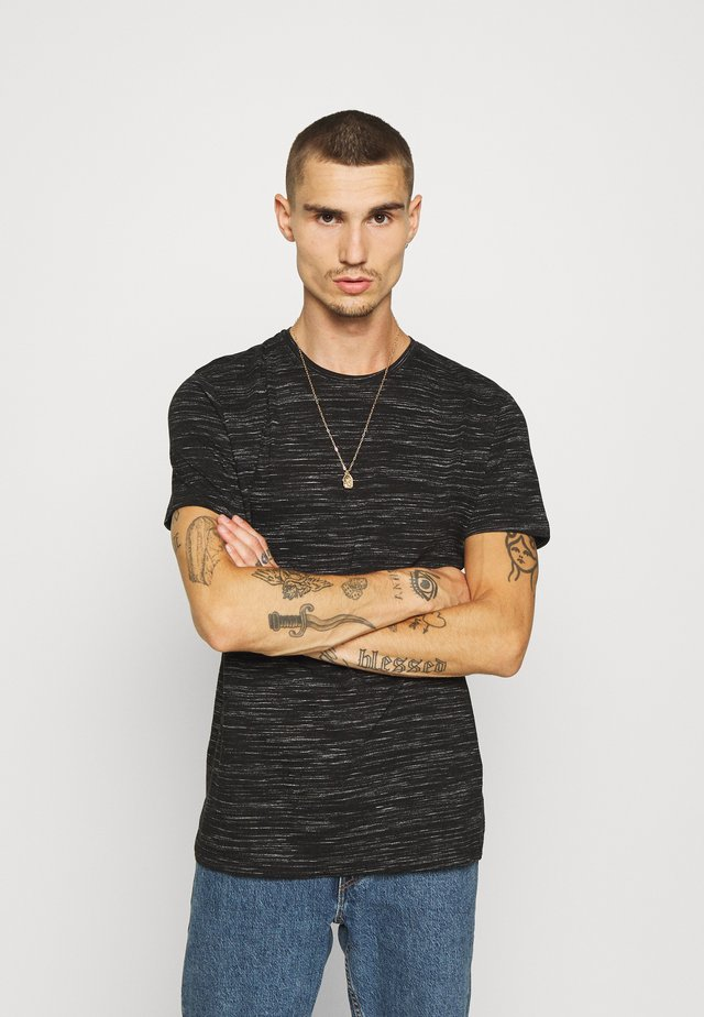 ALBERTO - T-shirts print - jet black/ecru