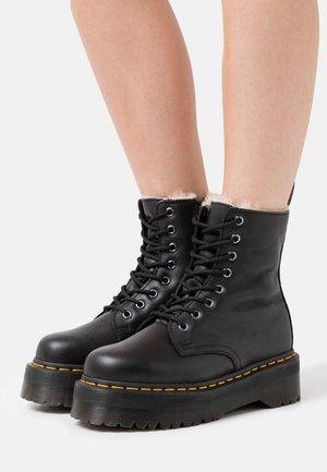JADON FAUX FUR LINED - Platform ankle boots - black pisa