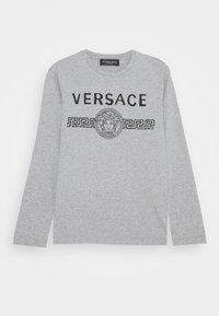 Versace - MAGLIETTA MANICA LUNGA - Long sleeved top - grigio chiaro melange - 0