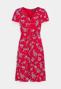 Lauren Ralph Lauren - PRINTED CREPE DRESS - Denní šaty - orient red - 5