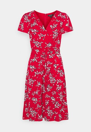 PRINTED CREPE DRESS - Day dress - orient red