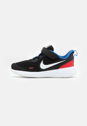 REVOLUTION 5 UNISEX - Neutral running shoes - black/white/university red/game royal