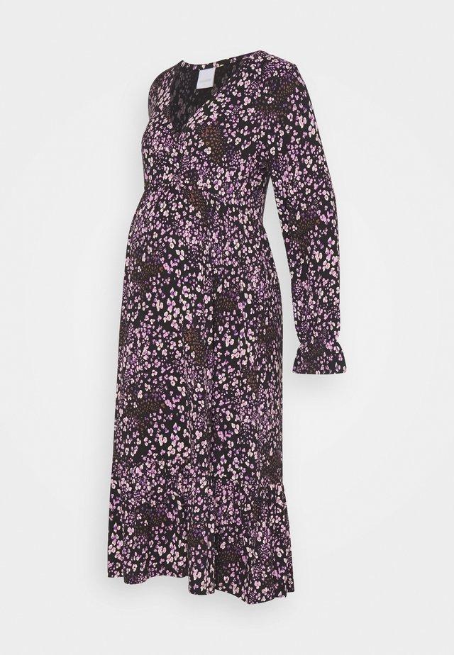 MLMAI MIDI DRESS - Jerseykjole - black/purple