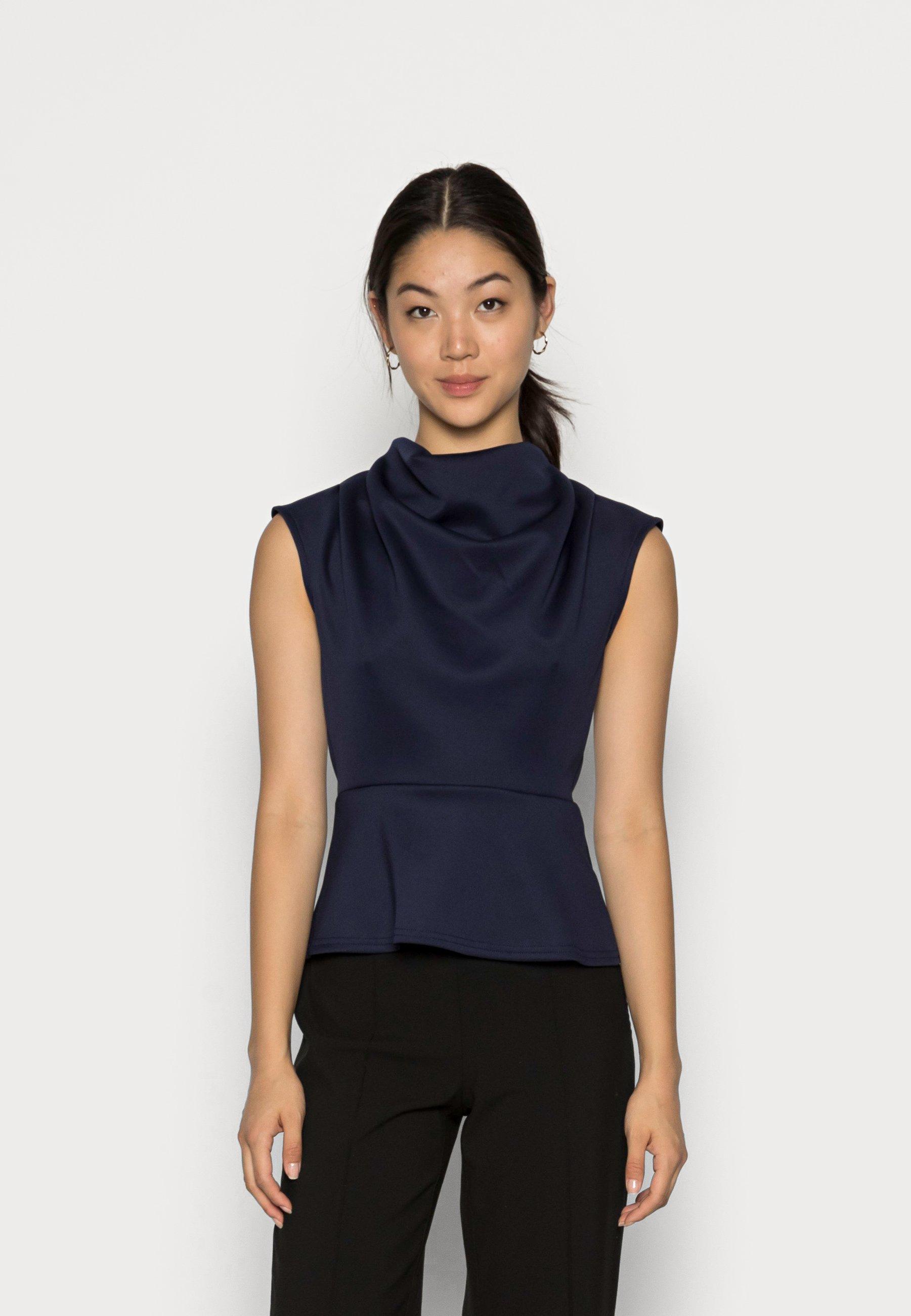Women CLOSET PLEATED HIGH NECK - Top