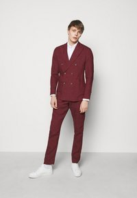 Frescobol Carioca - UNSTRUCTURED DOUBLE BREASTED - Suit jacket - dark red - 1