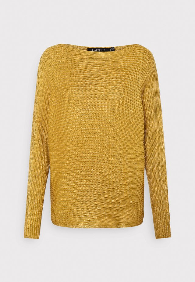 BRIGHT BOATNECK - Jersey de punto - shiny gold