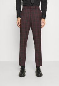Isaac Dewhirst - SINGLE BREASTED TARTEN SUIT SET - Completo - red - 4
