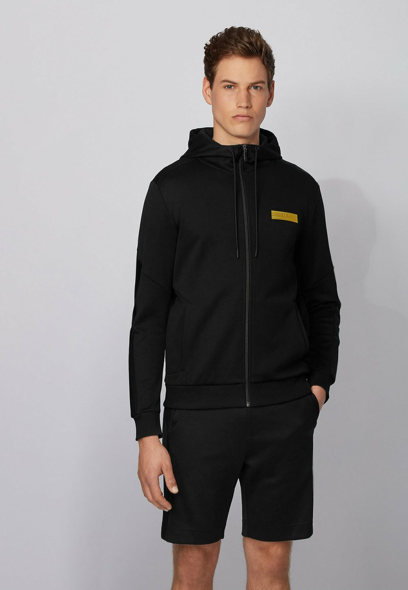 BOSS - SAGGY BATCH Z - Zip-up sweatshirt - black