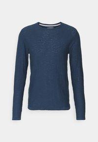 Blend - Stickad tröja - dark denim - 5