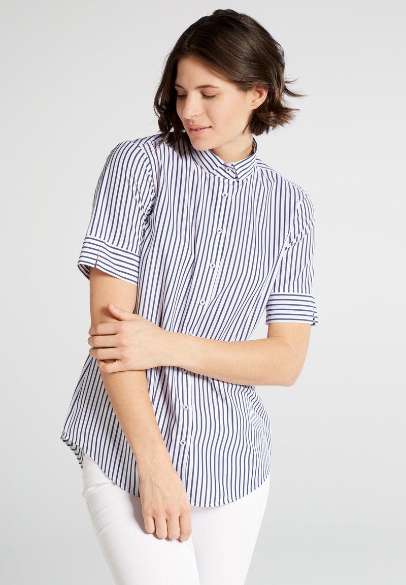 Eterna - MODERN CLASSIC - Button-down blouse - blue/White