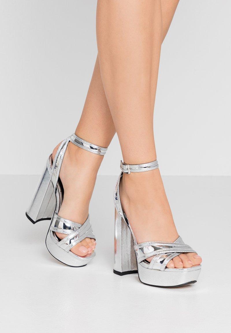 River Island - High heeled sandals - silver