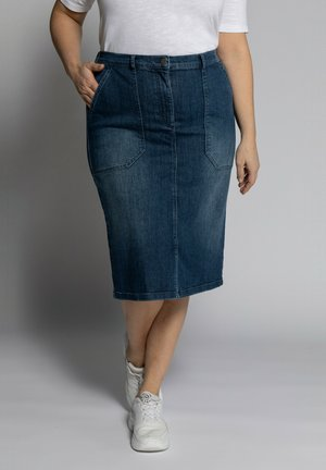 Denim skirt - darkblue denim