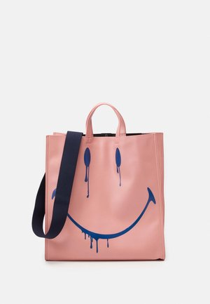SMUDGE - Tote bag - old rose/blue