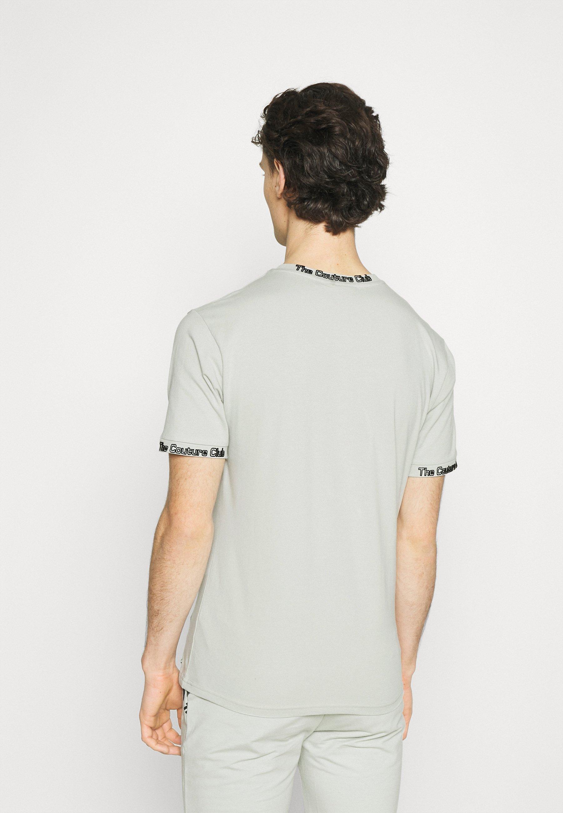 Homme FLOCK DETAIL SLIM FIT T SHIRT - T-shirt basique