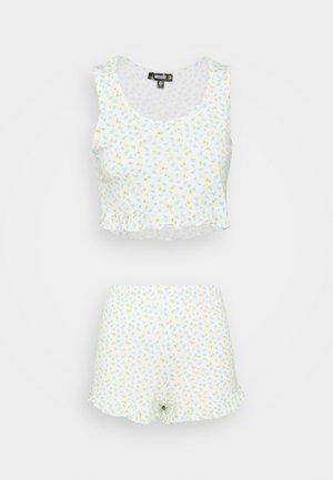 DITSY FLORAL FRILL CROP VEST SHORTS - Pyjamas - white