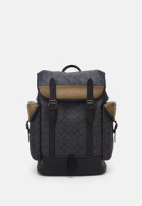 Coach - HITCH BACKPACK IN SIGNATURE CARRIAGE UNISEX - Batoh - mottled dark grey - 0