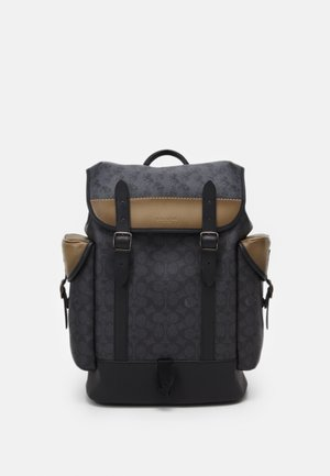 HITCH BACKPACK IN SIGNATURE CARRIAGE UNISEX - Ryggsäck - mottled dark grey