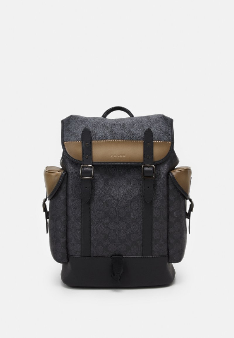Coach - HITCH BACKPACK IN SIGNATURE CARRIAGE UNISEX - Batoh - mottled dark grey