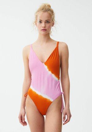 Plavky - mottled light pink