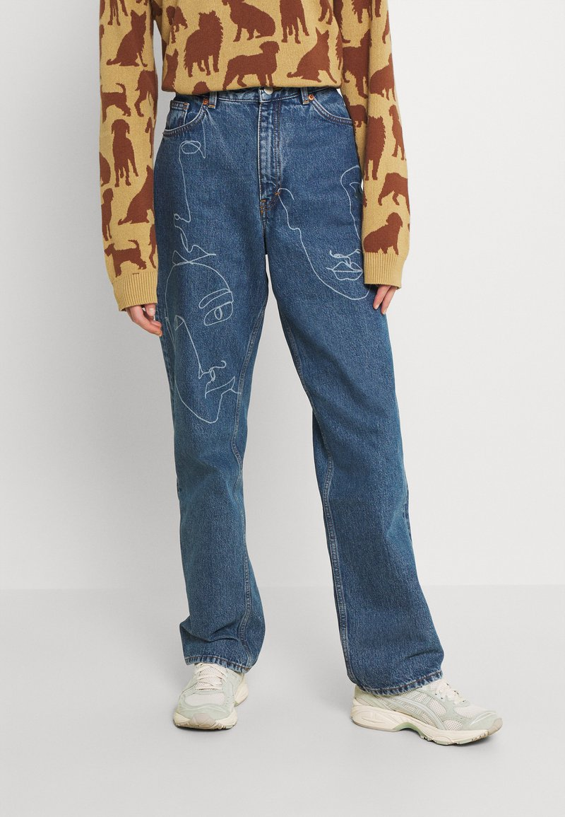 Monki - TAIKI FACES - Jeans relaxed fit - faces