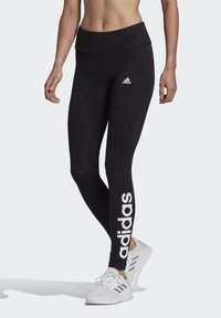 adidas Performance - LIN LEG - Leggings - black/white - 0
