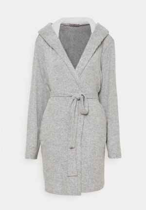 RIBBED BATHROBE - Albornoz - grey